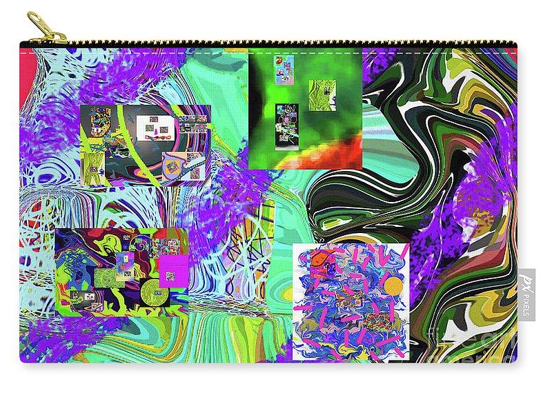 Walter Paul Bebirian Carry-all Pouch featuring the digital art 11-8-2015babcdefghijklmnopqrtuvwxy by Walter Paul Bebirian