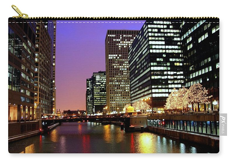 Chicago River Carry-all Pouch featuring the photograph Chicago by J.castro