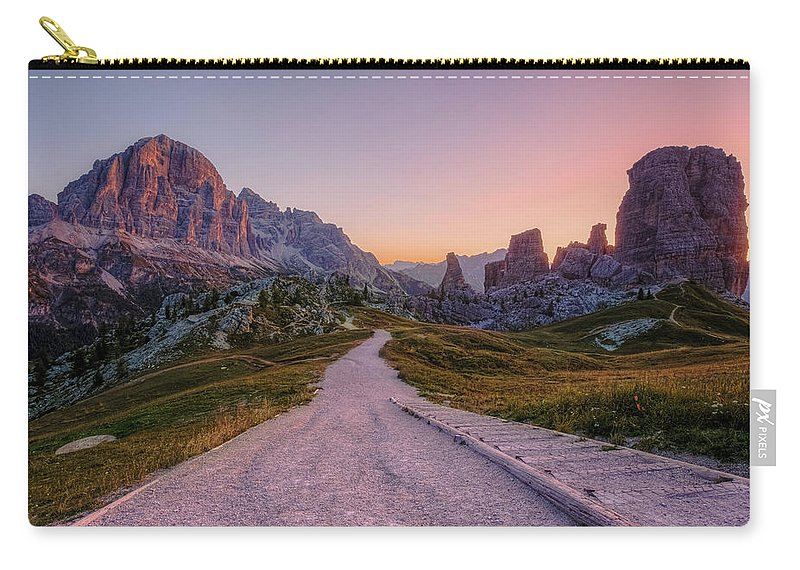 Cinque Torri Carry-all Pouch featuring the photograph Cinque Torri, Dolomites - Italy by Joana Kruse