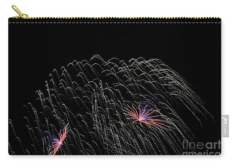 Fireworks Carry-all Pouch featuring the photograph Saint Louis Riverfront 4th Of July 2018 by Carol Jackson