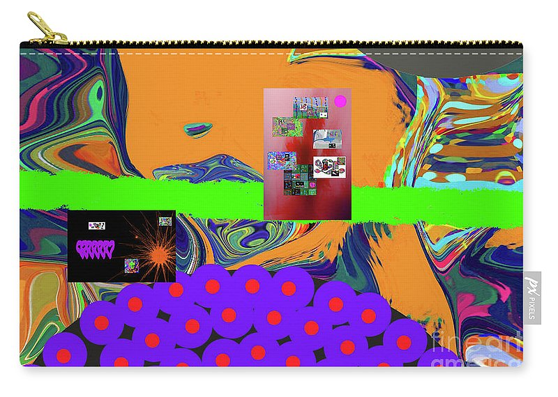 Walter Paul Bebirian Carry-all Pouch featuring the digital art 12-17-2017b by Walter Paul Bebirian