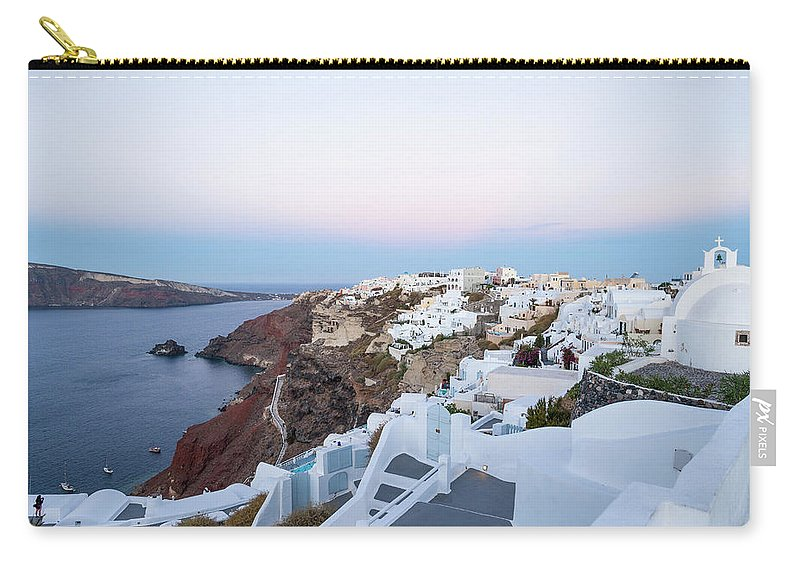 Tranquility Carry-all Pouch featuring the photograph Santorini Greece by Neil Emmerson