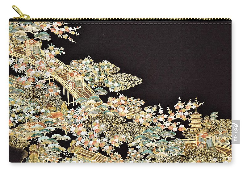 Carry-all Pouch featuring the digital art Spirit of Japan T73 by Miho Kanamori