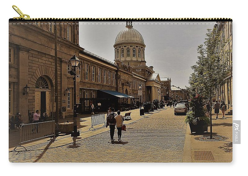 Old Montreal Carry-all Pouch featuring the photograph Old Montreal by David Gorman