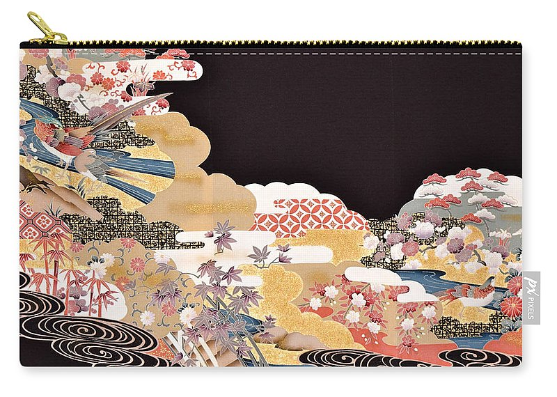 Carry-all Pouch featuring the digital art Spirit of Japan T65 by Miho Kanamori