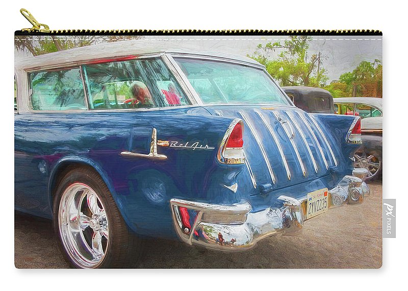 1955 Chevy Nomad Carry-all Pouch featuring the photograph 1955 Chevrolet Bel Air Nomad Station Wagon 228 by Rich Franco