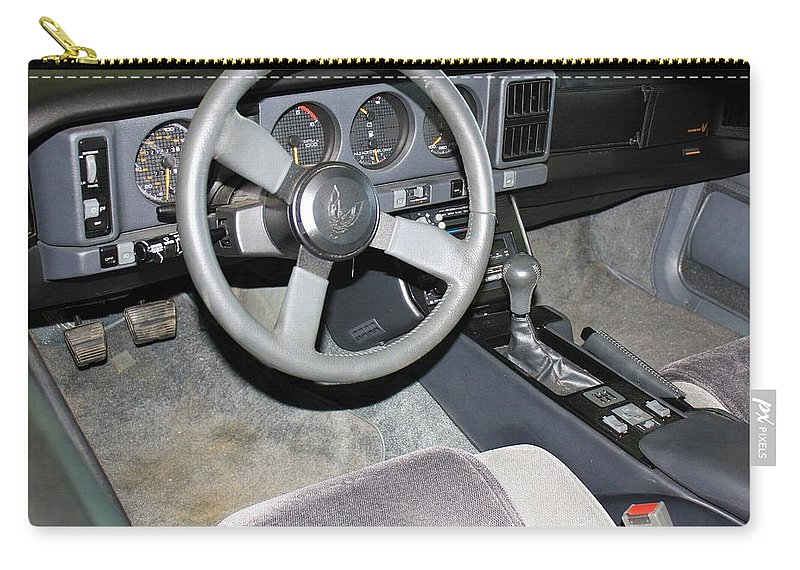 Auto Carry-all Pouch featuring the photograph 1986 Pontiac Trans Am Dashboard by WHBPhotography Wallace Breedlove