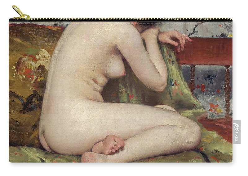America Carry-all Pouch featuring the painting A Modern Magdalen by William Merritt Chase