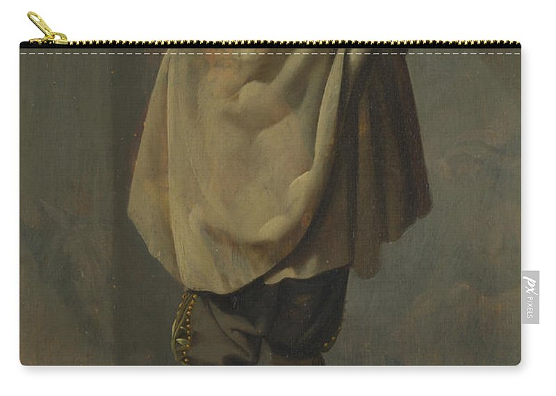 Pieter Quast Carry-all Pouch featuring the painting A Standing Man by Pieter Quast