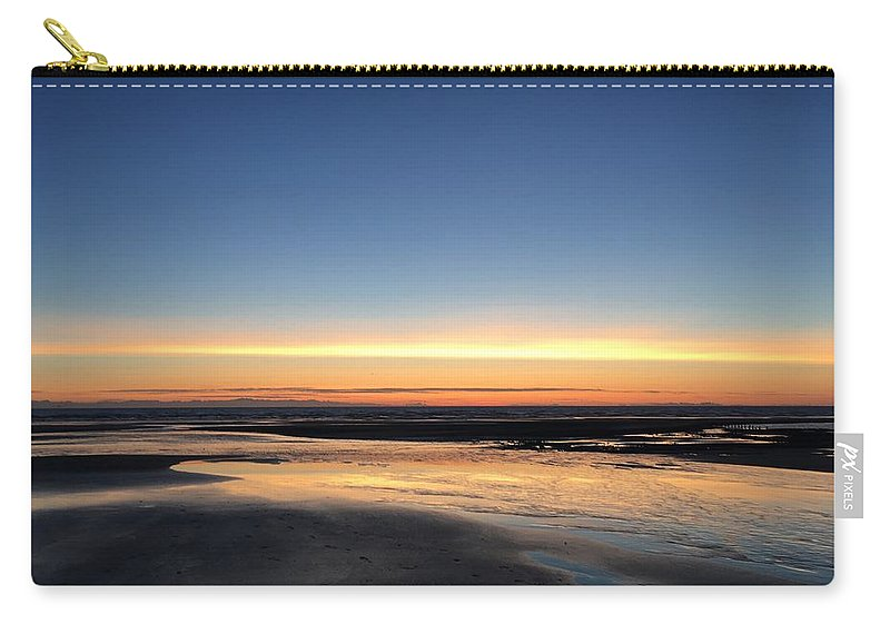 Carry-all Pouch featuring the photograph Beach Sunset, Blackpool, Uk 09/2017 by Michael Kane