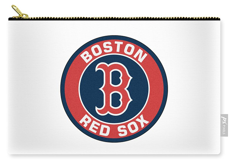 Boston Red Sox Carry-all Pouch featuring the digital art Boston Red Sox by Agnes Teti