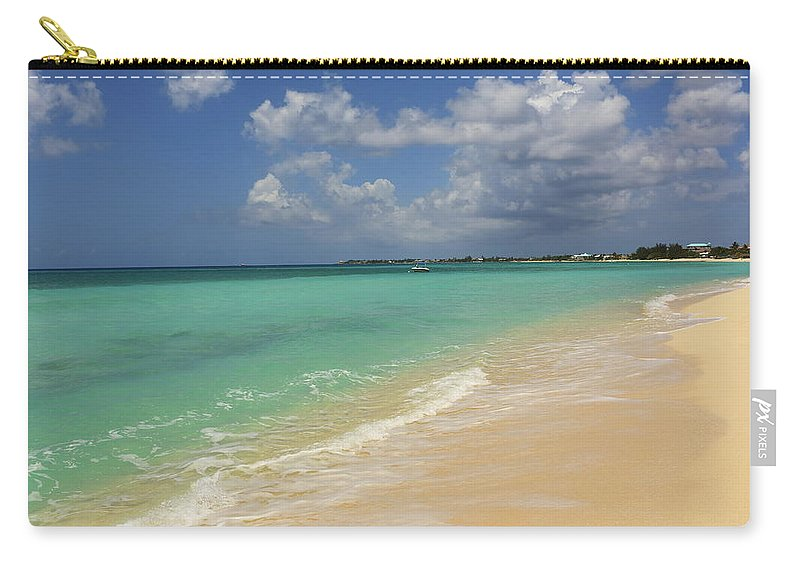 Scenics Carry-all Pouch featuring the photograph Caribbean Dream Beach by Shunyufan