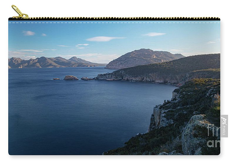 Tasmania Carry-all Pouch featuring the photograph Carp Bay In Freycinet National Park by Rob D