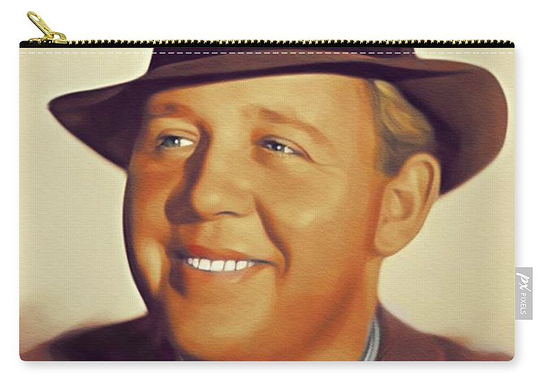 Charles Carry-all Pouch featuring the painting Charles Laughton, Vintage Actor by John Springfield