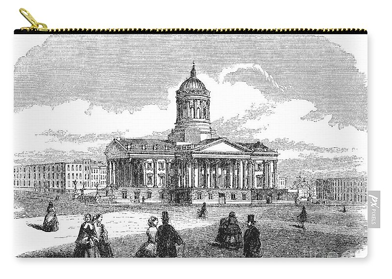 1850 Carry-all Pouch featuring the drawing Charleston, 1857 by Granger