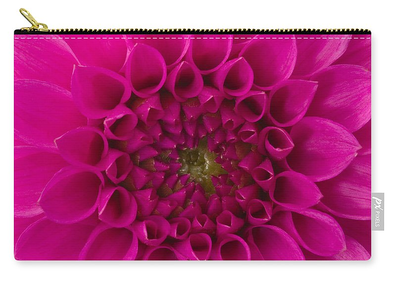 Saturated Color Carry-all Pouch featuring the photograph Dahlia by Vidok
