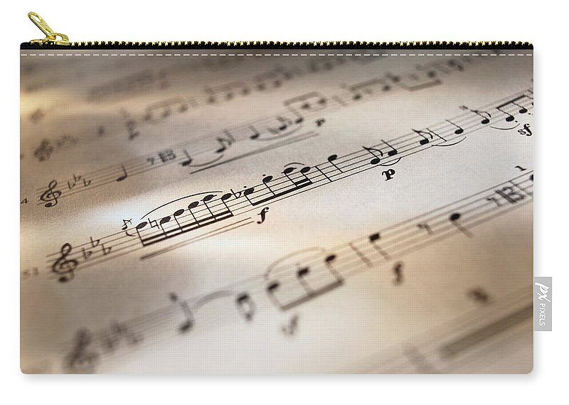 Sheet Music Carry-all Pouch featuring the photograph Detail Of Sheet Music by Ryan Mcvay