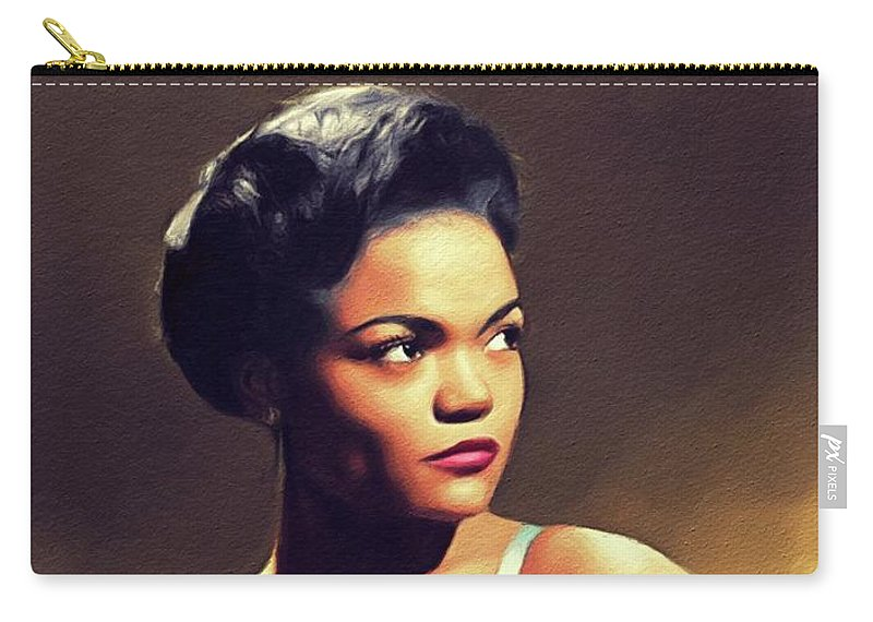 Eartha Carry-all Pouch featuring the painting Eartha Kitt, Hollywood Legend by John Springfield