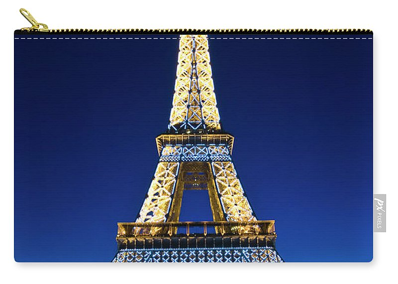 Built Structure Carry-all Pouch featuring the photograph Eiffel Tower, Paris, France by John Harper