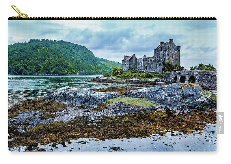 Castle Carry-all Pouch featuring the photograph Eilean Donan Castle by Fabio Gomes Freitas
