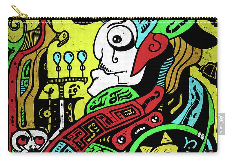 Emperor Carry-all Pouch featuring the digital art Emperor by Sotuland Art