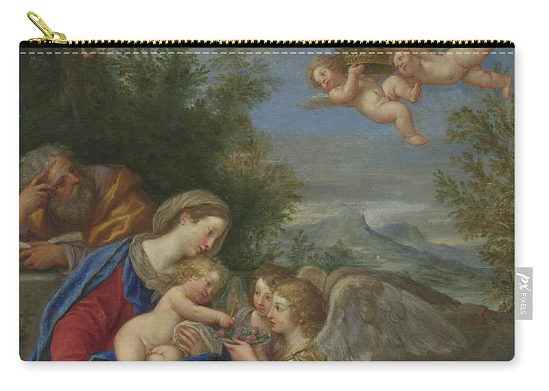 Rest On The Flight Into Egypt Carry-all Pouch featuring the painting Francesco Albani by Rest on the Flight into Egypt