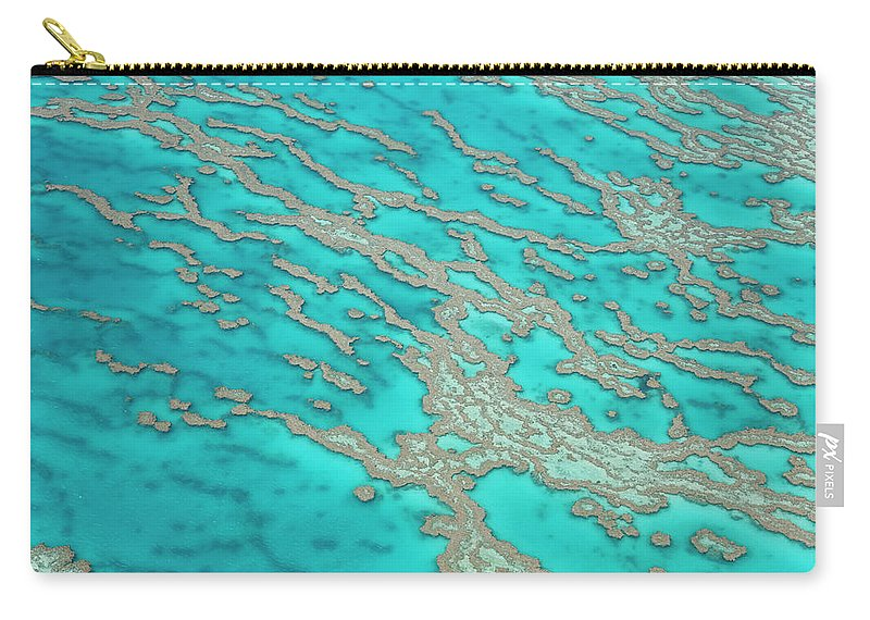 Tranquility Carry-all Pouch featuring the photograph Great Barrier Reef, Queensland by Peter Adams