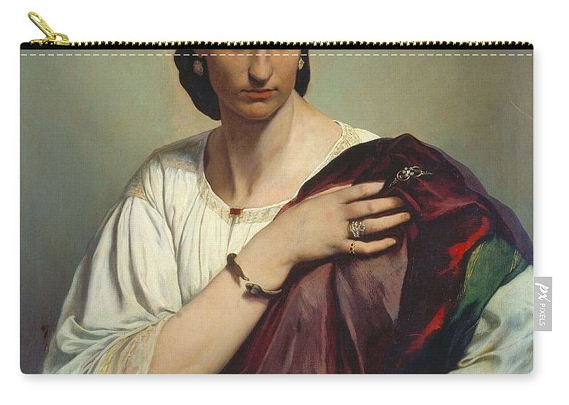 Half Length Portrait Of A Roman Woman Carry-all Pouch