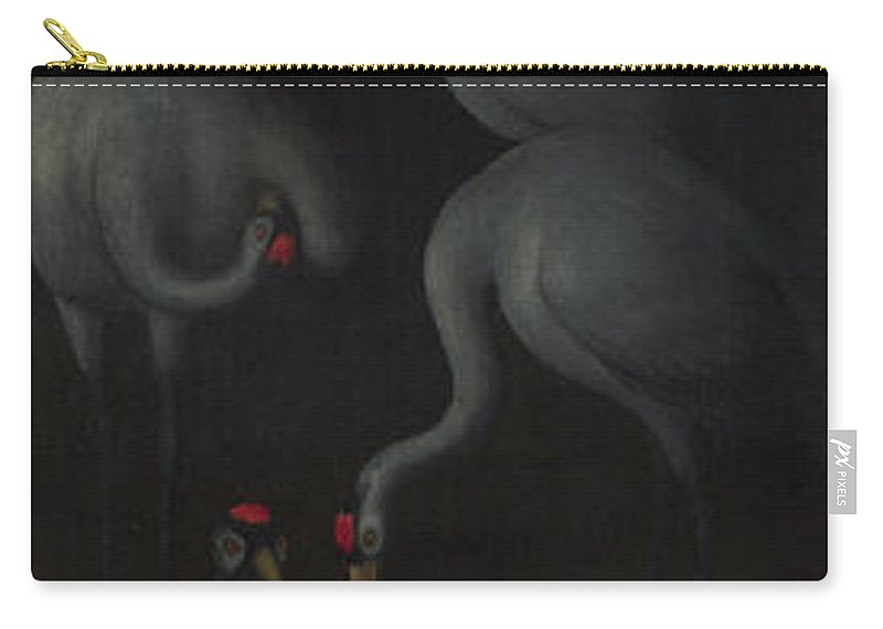 Saints John The Baptist And Lawrence Carry-all Pouch featuring the painting Hans Memling by Saints John the Baptist and Lawrence