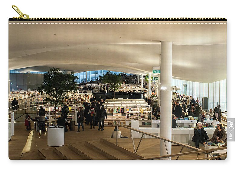 Helsinki Central Library Carry-all Pouch featuring the photograph Helsinki Central Library by Jarmo Honkanen