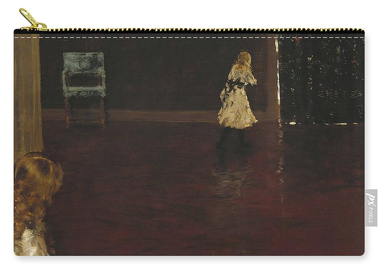 William Merritt Chase (1849 1916) Carry-all Pouch featuring the painting Hide And Seek by William Merritt Chase