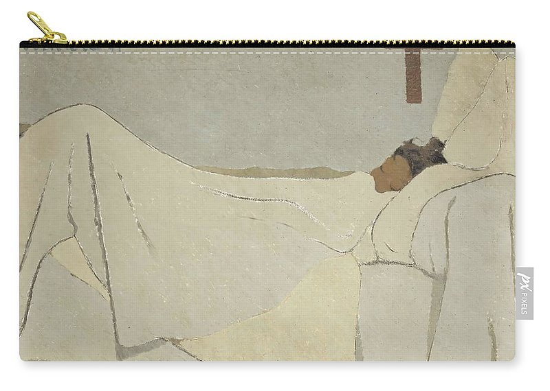 Edouard Vuillard Carry-all Pouch featuring the painting In Bed by Edouard Vuillard