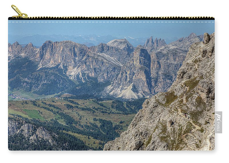 Lagazuoi Carry-all Pouch featuring the photograph Lagazuoi - Italy by Joana Kruse