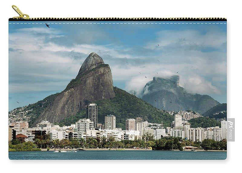 Majestic Carry-all Pouch featuring the photograph Lagoa Rodrigo De Freitas by Daniel Santacatalina