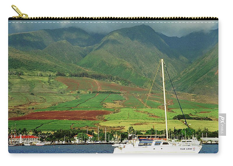 Nature Carry-all Pouch featuring the photograph Maui Sunset Sail by Richard Jenkins