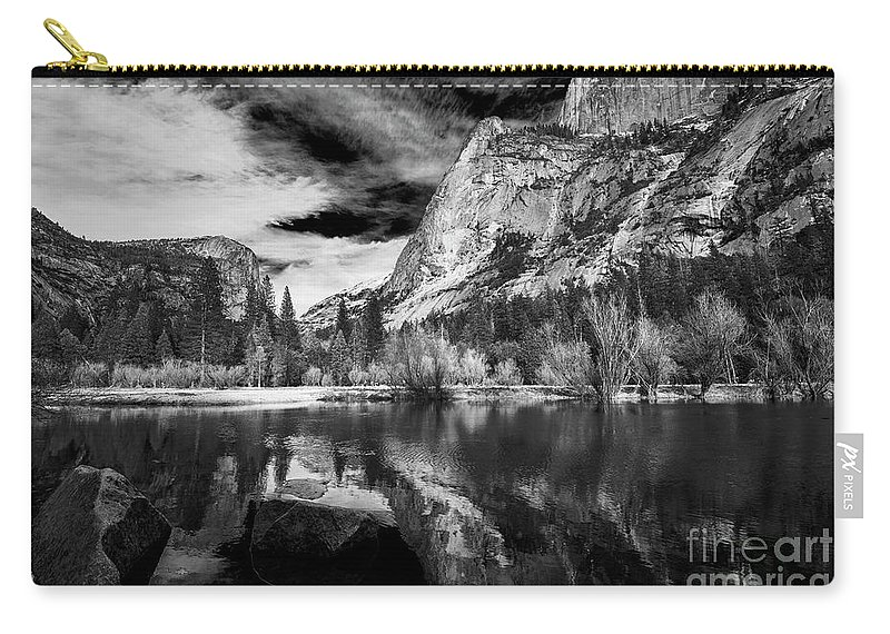 Mirror Lake Carry-all Pouch featuring the photograph Mirror Lake, Yosemite National Park by Yefim Bam