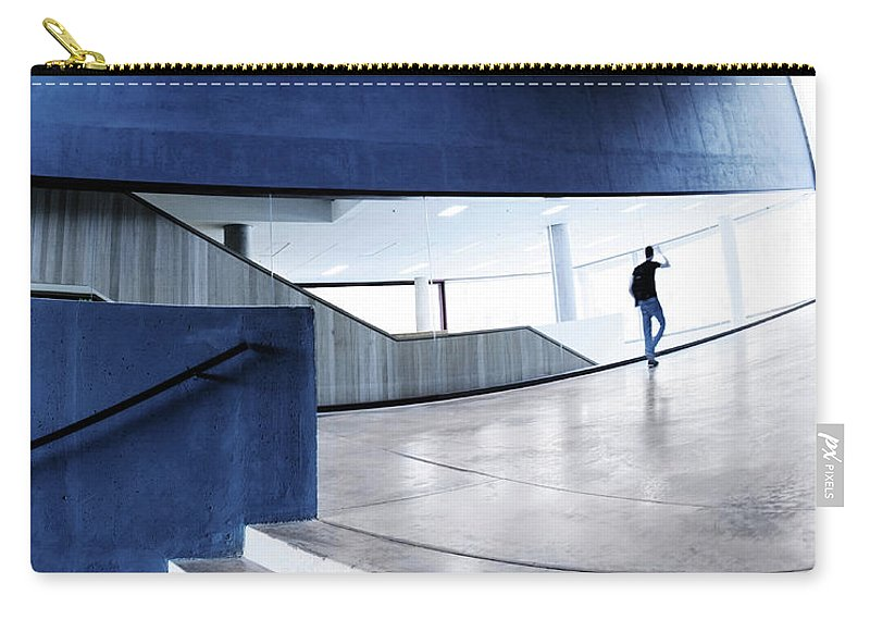Pedestrian Carry-all Pouch featuring the photograph Modern Architecture by Nikada