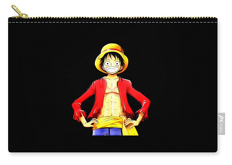 Summer Carry-all Pouch featuring the digital art Onepiece by Jek Kil
