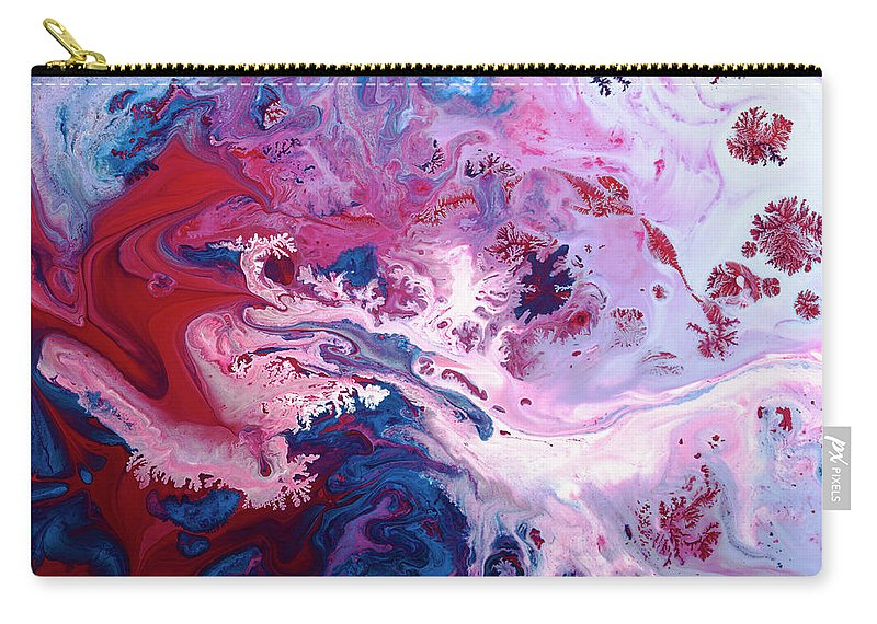 Art Carry-all Pouch featuring the photograph Paint Patterns by Jonathan Knowles