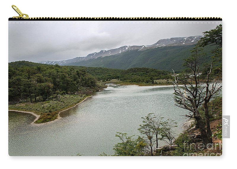 Picturesque Laguna Verde Carry-all Pouch featuring the photograph Picturesque Laguna Verde, Tierra Del Fuego National Park, Ushuaia, Argentina by Yefim Bam