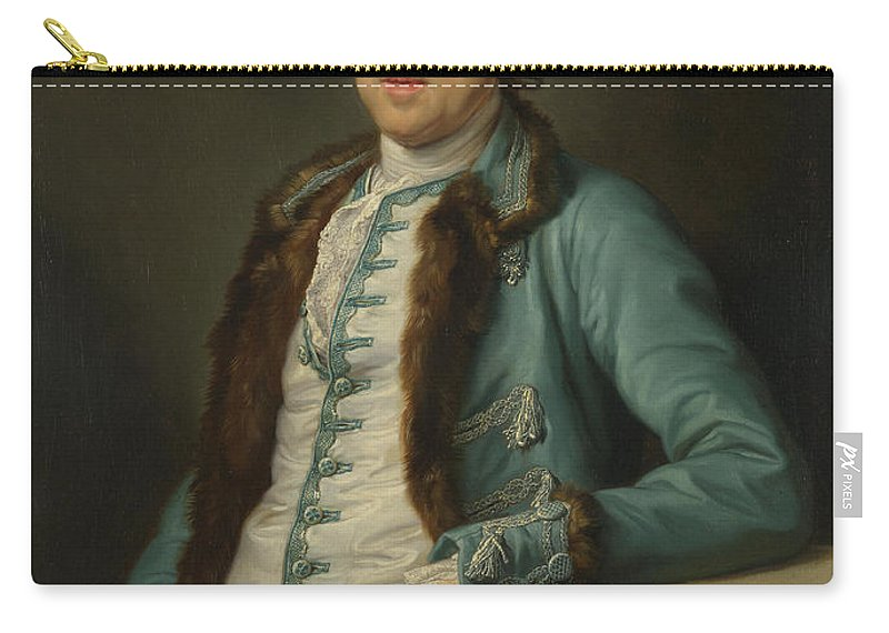 Pompeo Girolamo Batoni Carry-all Pouch featuring the painting Portrait Of John Scott Of Banks Fee by Pompeo Girolamo Batoni