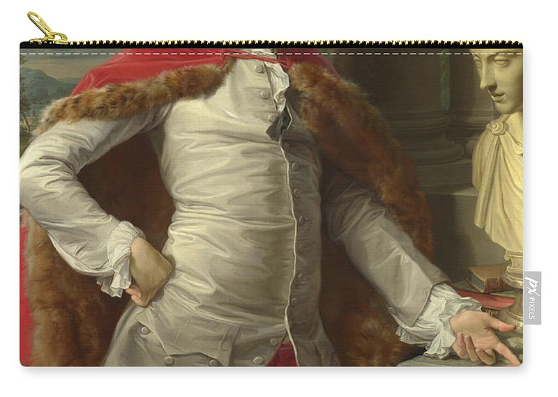 Pompeo Girolamo Batoni Carry-all Pouch featuring the painting Portrait Of Richard Milles by Pompeo Girolamo Batoni