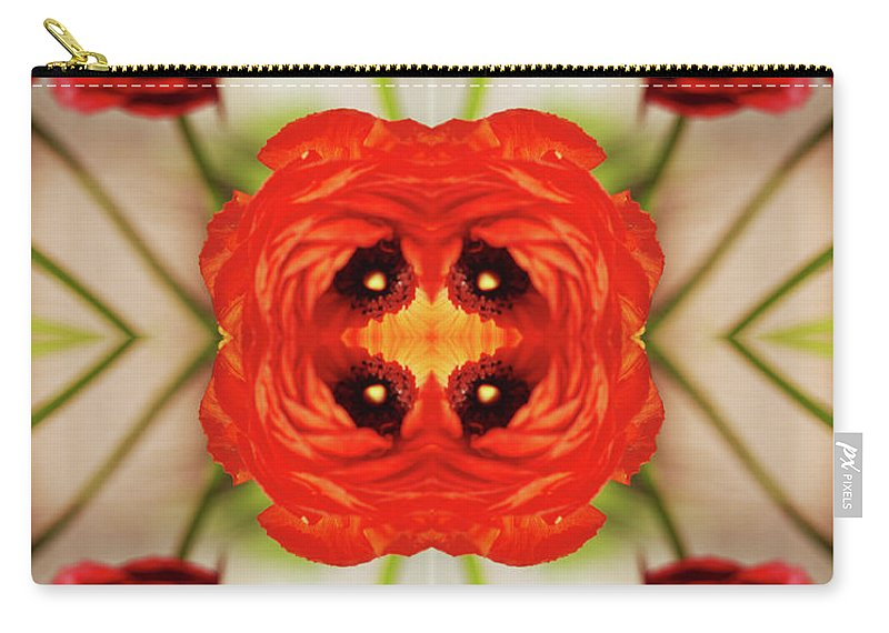 Tranquility Carry-all Pouch featuring the photograph Ranunculus Flower by Silvia Otte