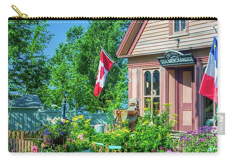 Nova Scotia Carry-all Pouch featuring the photograph Scenic Garden And Antiques Store by David Smith