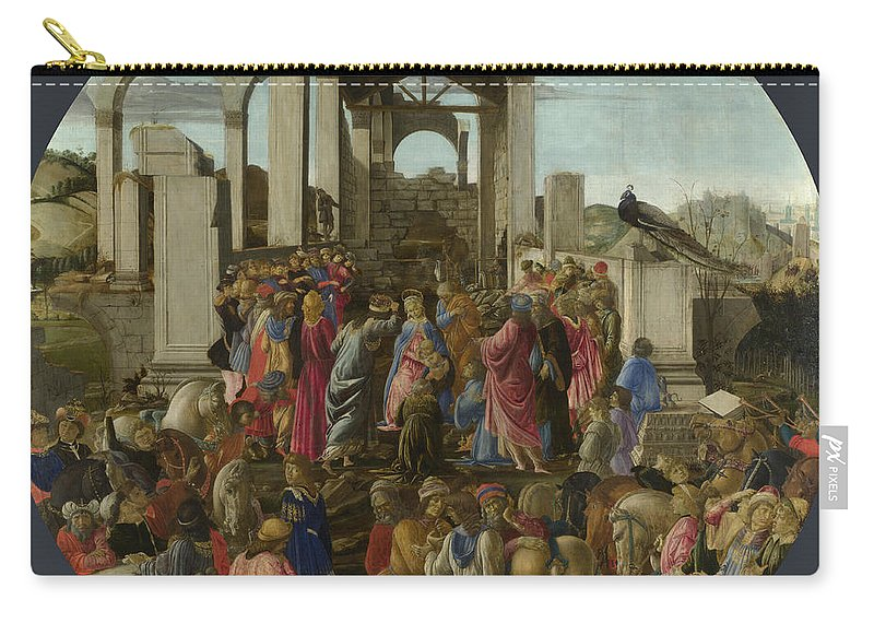 Sandro Botticelli Carry-all Pouch featuring the painting The Adoration Of The Kings by Sandro Botticelli