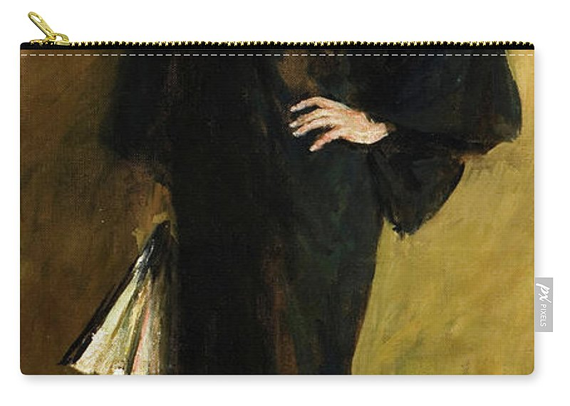 America Carry-all Pouch featuring the painting The Blue Kimono by William Merritt Chase