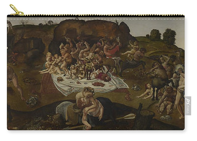 Piero Di Cosimo Carry-all Pouch featuring the painting The Fight Between The Lapiths And The Centaurs by Piero di Cosimo