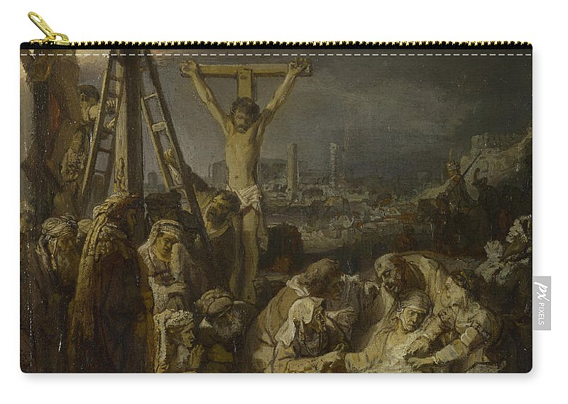 Rembrandt Carry-all Pouch featuring the painting The Lamentation Over The Dead Christ by Rembrandt