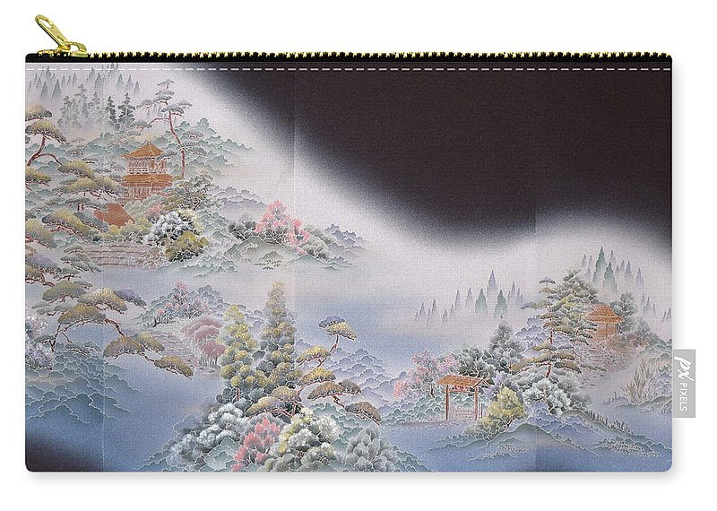 Carry-all Pouch featuring the digital art Spirit of Japan T64 by Miho Kanamori