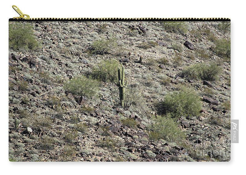 Saguaro Carry-all Pouch featuring the photograph 2016 Husband And Wife Saguaro by Darryl Treon